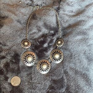 White Silver Statement Necklace